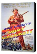 Davy Crockett - 11 x 17 Movie Poster - Style B - Museum Wrapped Canvas