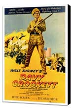 Davy Crockett - 27 x 40 Movie Poster - Style A - Museum Wrapped Canvas