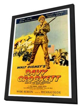 Davy Crockett - 27 x 40 Movie Poster - Style A - in Deluxe Wood Frame