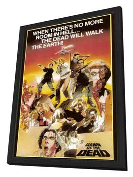 Dawn of the Dead - 27 x 40 Movie Poster - Style B - in Deluxe Wood Frame