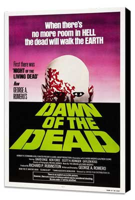 Dawn of the Dead - 27 x 40 Movie Poster - Style C - Museum Wrapped Canvas