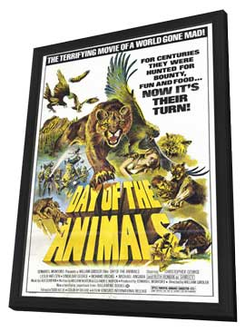 Day of the Animals - 11 x 17 Movie Poster - Style A - in Deluxe Wood Frame