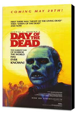 Day of the Dead - 11 x 17 Movie Poster - Style B - Museum Wrapped Canvas