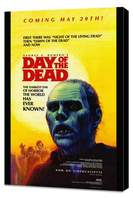 Day of the Dead - 27 x 40 Movie Poster - Style B - Museum Wrapped Canvas