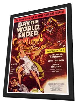 Day the World Ended - 27 x 40 Movie Poster - Style A - in Deluxe Wood Frame