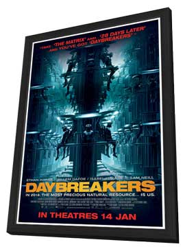 Daybreakers - 11 x 17 Movie Poster - Style D - in Deluxe Wood Frame