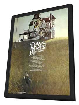 Days of Heaven - 11 x 17 Movie Poster - UK Style A - in Deluxe Wood Frame