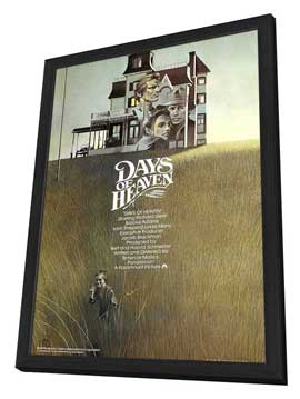 Days of Heaven - 27 x 40 Movie Poster - UK Style A - in Deluxe Wood Frame