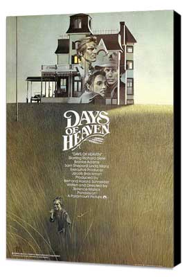 Days of Heaven - 27 x 40 Movie Poster - UK Style A - Museum Wrapped Canvas