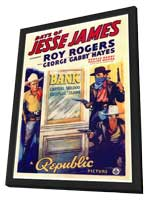 Days of Jesse James - 27 x 40 Movie Poster - Style A - in Deluxe Wood Frame