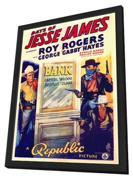 Days of Jesse James - 11 x 17 Movie Poster - Style A - in Deluxe Wood Frame