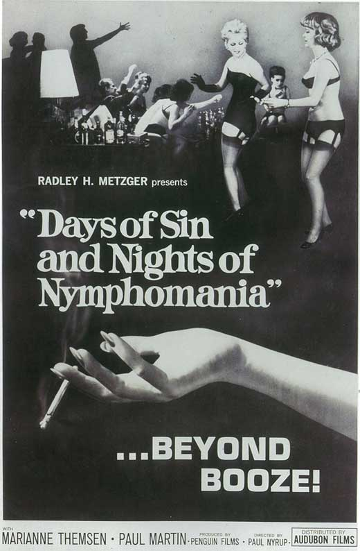 Days of Sin and Nights of Nymphomania Movie Posters 1963