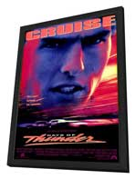 Days of Thunder - 27 x 40 Movie Poster - Style A - in Deluxe Wood Frame