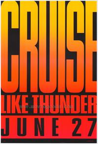 Days of Thunder - 43 x 62 Movie Poster - Bus Shelter Style A