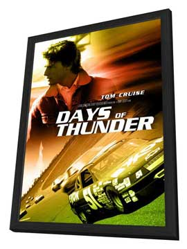 Days of Thunder - 11 x 17 Movie Poster - Style E - in Deluxe Wood Frame