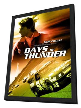 Days of Thunder - 27 x 40 Movie Poster - Style D - in Deluxe Wood Frame