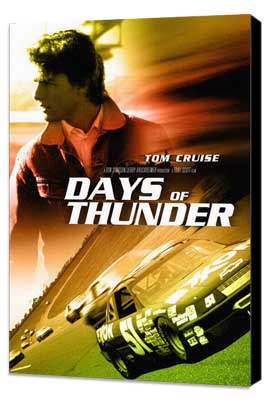 Days of Thunder - 11 x 17 Movie Poster - Style E - Museum Wrapped Canvas