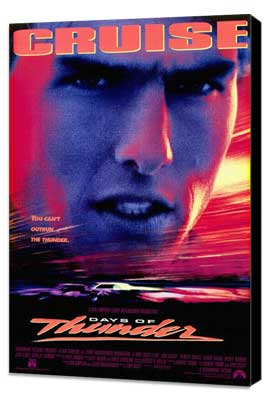 Days of Thunder - 27 x 40 Movie Poster - Style A - Museum Wrapped Canvas