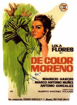 De color moreno - 11 x 17 Movie Poster - Spanish Style A