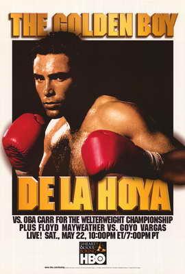 De La Hoya Vs. Oba Carr - 11 x 17 Boxing Promo Poster - Style A