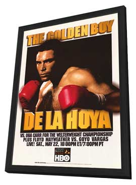 De La Hoya Vs. Oba Carr - 11 x 17 Boxing Promo Poster - Style A - in Deluxe Wood Frame