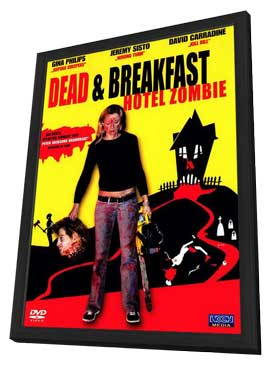 Dead & Breakfast - 27 x 40 Movie Poster - German Style A - in Deluxe Wood Frame