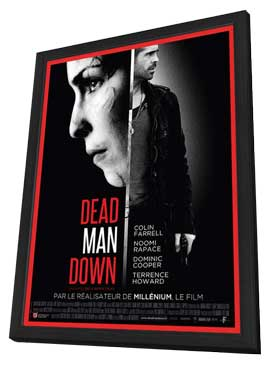 Dead Man Down - 27 x 40 Movie Poster - French Style A - in Deluxe Wood Frame