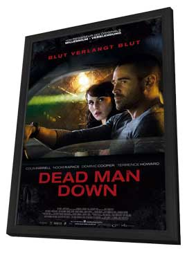 Dead Man Down - 27 x 40 Movie Poster - German Style A - in Deluxe Wood Frame
