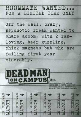 Dead Man on Campus - 11 x 17 Movie Poster - Style B