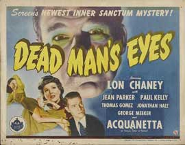 Dead Man's Eyes - 11 x 14 Movie Poster - Style A