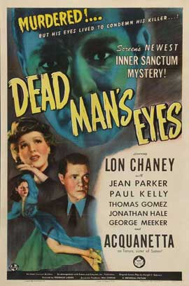 Dead Man's Eyes - 27 x 40 Movie Poster - Style A