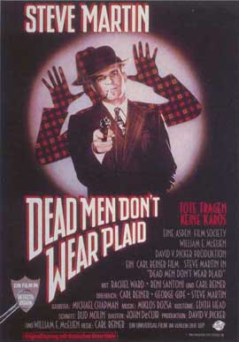 Dead Men Don't Wear Plaid - 11 x 17 Movie Poster - German Style A