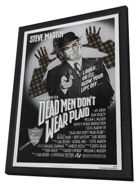 Dead Men Don't Wear Plaid - 11 x 17 Movie Poster - Style A - in Deluxe Wood Frame
