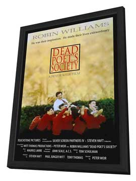 Dead Poets Society - 11 x 17 Movie Poster - Style B - in Deluxe Wood Frame