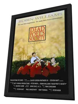 Dead Poets Society - 27 x 40 Movie Poster - Style B - in Deluxe Wood Frame