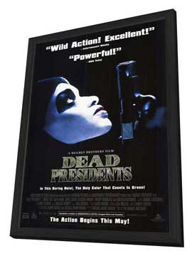 Dead Presidents - 27 x 40 Movie Poster - Style B - in Deluxe Wood Frame