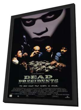 Dead Presidents - 11 x 17 Movie Poster - Style D - in Deluxe Wood Frame