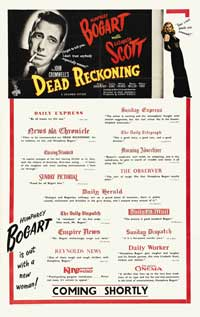 Dead Reckoning - 27 x 40 Movie Poster - UK Style A