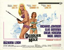 Deadlier Than the Male - 22 x 28 Movie Poster - Half Sheet Style A