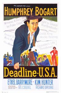 Deadline USA - 11 x 17 Movie Poster - Style A