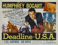 Deadline USA - 22 x 28 Movie Poster - Half Sheet Style B