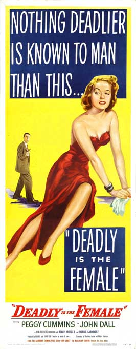 Deadly is the Female - 14 x 36 Movie Poster - Insert Style B