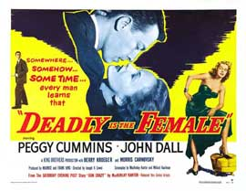Deadly is the Female - 22 x 28 Movie Poster - Half Sheet Style B
