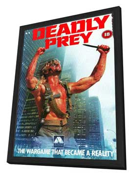 Deadly Prey - 27 x 40 Movie Poster - UK Style A - in Deluxe Wood Frame