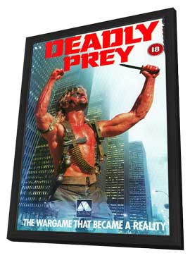 Deadly Prey - 11 x 17 Movie Poster - UK Style A - in Deluxe Wood Frame