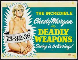Deadly Weapons - 27 x 40 Movie Poster - UK Style A