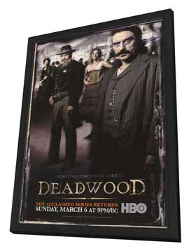 Deadwood (TV) - 27 x 40 TV Poster - Style D - in Deluxe Wood Frame