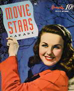 Deanna Durbin - 11 x 17 Movie Stars Parade Magazine Cover 1940's
