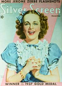 Deanna Durbin - 11 x 17 Silver Screen Magazine Cover 1930's Style A