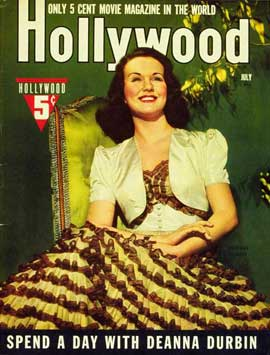 Deanna Durbin - 11 x 17 Hollywood Magazine Cover 1940's Style A
